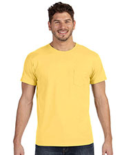 Hanes 498P Men 4.5 oz., 100% Ringspun Cotton nanoT T-Shirt with Pocket at GotApparel