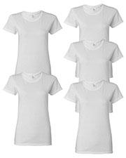 Gildan G500L Women Heavy Cotton 5.3 Oz. Missy Fit T-Shirt 5-Pack at GotApparel
