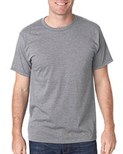 Bayside 5010 Men Heather Ringspun Jersey Tee at GotApparel