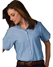 Edwards 5027 Women's Button Down Short-Sleeve Oxford Shirt at GotApparel
