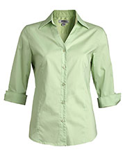 Edwards 5045 Women's V-Neck 3/4 Sleeve Stretch Blouse at GotApparel