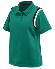 Augusta 5048 Women's Genesis Sport Polo Shirt with Shoulder Inserts at GotApparel
