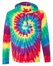 Dyenomite 430VR Men Tie-Dyed Hooded Pullover T-Shirt at GotApparel