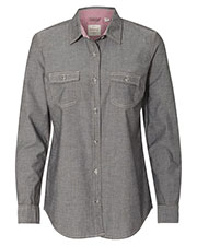 Weatherproof W154885  Vintage Wos Chambray Long Sleeve Shirt at GotApparel