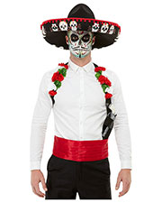 Smiffys 50800 Men Day Of The Dead Kit, Red at GotApparel