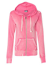 Mv Sport W2350  Wos Angel Fleece Hooded Full-Zip Sweatshirt at GotApparel