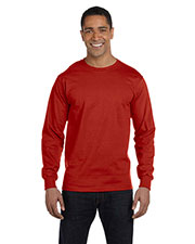 Hanes 5186 Men 6.1 Oz. Long-Sleeve Beefy Tee at GotApparel