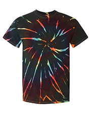 Dyenomite 200ms  Multi-Color Spiral Short Sleeve T-Shirt at GotApparel
