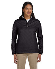 Ashworth 5358C Women Houndstooth HalfZip Jacket at GotApparel