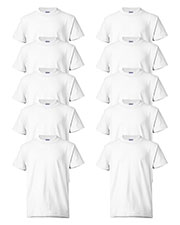 Hanes 5370 Boys 5.2 Oz. 50/50 Comfort Blend Eco Smart T-Shirt 10-Pack at GotApparel
