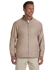 Ashworth 5378 Men Full-Zip Lined Wind Jacket at GotApparel