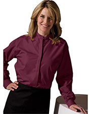 Edwards 5396 Women Banded Collar Long-Sleeve Shirt at GotApparel
