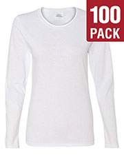 Gildan G540L Women Heavy Cotton 5.3 Oz. Missy Fit Long-Sleeve T-Shirt 100-Pack at GotApparel