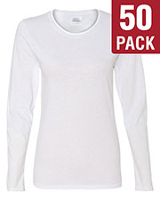 Gildan G540L Women Heavy Cotton 5.3 Oz. Missy Fit Long-Sleeve T-Shirt 50-Pack at GotApparel