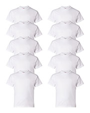 Hanes 5480 Boys 5.2 Oz. Comfort Soft Cotton T-Shirt 10-Pack at GotApparel