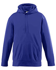 Augusta 5505 Men Wicking Long Sleeve Warmup Fleece Hood Sweatshirt at GotApparel