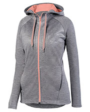 Augusta 5558 Women Zoe Tonal Heather Full Zip Hoody at GotApparel