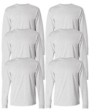 Hanes 5586 Men 6.1 Oz. Tagless Comfort Soft Long-Sleeve T-Shirt 6-Pack at GotApparel