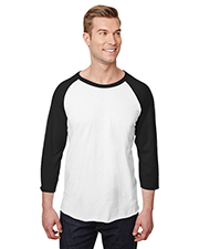 Jerzees 560RR Adult 5.2 oz Premium Blend Ring-Spun Raglan Baseball T-Shirt at GotApparel