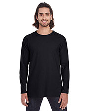 Anvil 5628  Lightweight Long & Lean Raglan Long Sleeve T-Shirt at GotApparel
