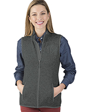 Charles River Apparel 5722 Women Pacific Heathered Fleece Vest at GotApparel