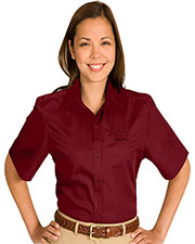 Edwards 5740 Women Cotton Plus Twill Short-Sleeve Shirt at GotApparel