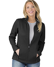 Charles River Apparel 5748 Women Heritage Rib Knit Jacket at GotApparel