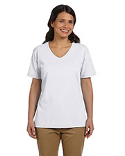 Hanes 5780 Women 5.2 oz. ComfortSoft V-Neck Cotton T-Shirt at GotApparel