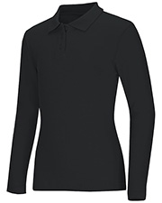 Classroom Uniforms 58544 Women Long Sleeve Fitted Interlock Polo at GotApparel