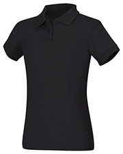 Classroom Uniforms 58582 Girls Short Sleeve Fitted Interlock Polo at GotApparel