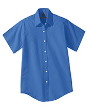 Edwards 5925 Women Short Sleeve Oxford Shirt at GotApparel