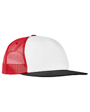 Yupoong 6005FW  Foam Trucker with White Front Snapback at GotApparel