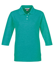 Tri-Mountain 601 Women Aurora Pique Golf Shirt at GotApparel