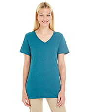 Jerzees 601WVR Women 4.5 Oz. Tri-Blend V-Neck T-Shirt at GotApparel