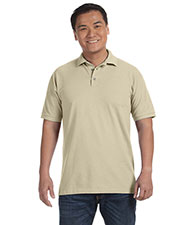 Anvil 6020 Men's Ringspun Cotton Pique Polo at GotApparel