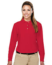 Tri-Mountain 602 Women's Victory Pique Long-Sleeve Golf Shirt at GotApparel