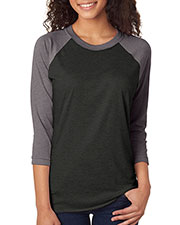 Next Level 6051 Unisex Tri blend 3/4-Sleeve Raglan at GotApparel