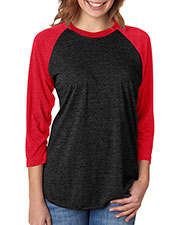 Next Level 6051 Unisex Tri-Blend 3/4-Sleeve Raglan T-Shirt at GotApparel