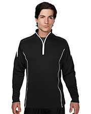TRI-MOUNTAIN PERFORMANCE 605 Men Fullerton Textured Long Sleeve 1/4 -Zipper Pullover at GotApparel