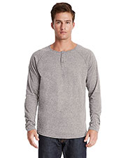 Next Level 6072  S Triblend Long-Sleeve Henley at GotApparel
