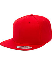 Yupoong 6089 Unisex 6-Panel Structured Flat Visor Classic Snapback at GotApparel