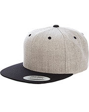 Yupoong 6089MT Heather Two-Tone Adjustable Wool Cap at GotApparel