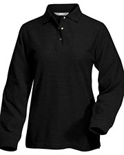 Tri-Mountain 612 Women's System Long-Sleeve Easy Care Knit Shirt With Snap Closure at GotApparel