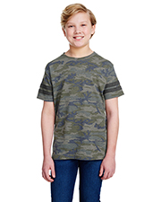 LAT 6137 Youth 4.5 oz Football Fine Jersey T-Shirt at GotApparel