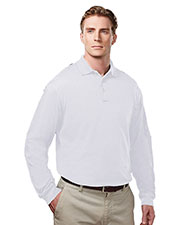 Tri-Mountain 614 Men's Vanguard Knit Long-Sleeve Polo at GotApparel