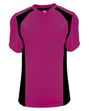 Badger 6171 Women B-Core Triple Play Contrast-Panel Athletic Jersey at GotApparel