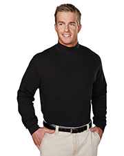 Tri-Mountain 620 Men Graduate Long Sleeve Interlock Mock Turtleneck at GotApparel
