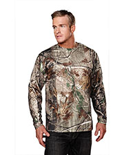 Tri-Mountain 622C Men Force Camo Long-Sleeve Shirt With Realtree Ape & Tri Mountain Ultracool at GotApparel