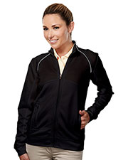 TRI-MOUNTAIN GOLD 625 Women Exeter Full Zip Long Sleeve Knit Shirt at GotApparel