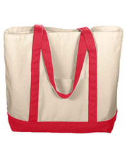 Augusta 625 Unisex Boater Canvas Tote Bag at GotApparel